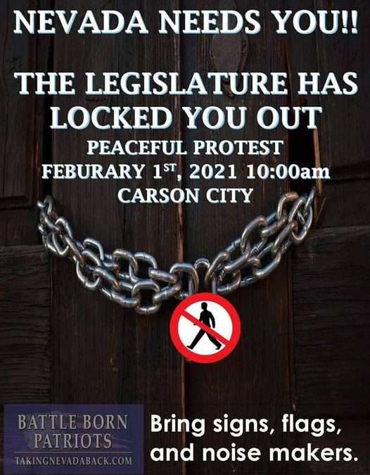 Legislative Lock Out Protest
